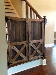 Child Gates For Stairs Rustic Wooden Baby Gates Stairs Ideas Home Inspiring