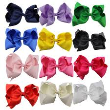 hair bow qtgirl large hair bows 12 pieces 8 solid color big