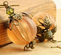 how to make halloween jewelry pumpkin earrings halloween earrings orange pumpkin earrings autumn