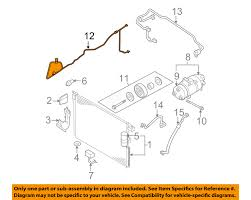 nissan frontier oem parts nissan oem 05 15 frontier ac a c air conditioner discharge line