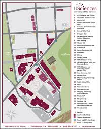 University Of Pennsylvania Campus Map by Campus Map University Of The Sciences In Philadelphia Acalog Acms