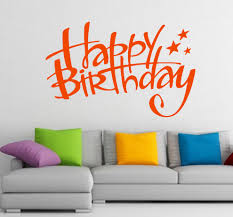 free shipping wall decals happy birthday lettering stars zoom