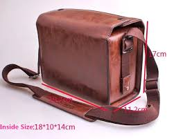 leica bags coffe color luxury digital pu leather bag for leica t