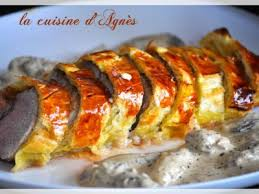 cuisiner foie gras filet mignon en croûte au foie gras sauce aux morilles recette ptitchef