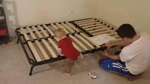Ikea Folding Bed Putting Together The Lycksele Ikea Futon Sofa Bed Youtube