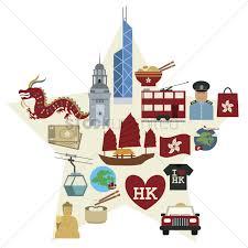 Hong Kong Flag Map Hong Kong Icon Set Vector Image 1594971 Stockunlimited