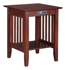 Nightstand With Charging Station by Atlantic Furniture Inc Home Office Mission Printer Stand