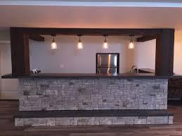 Basement Bar by See An Incredible Basement Bar Design Faux Wood Workshop