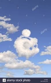heart shaped piggy bank blue sky clouds shaped like a piggy bank illustration stock