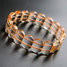 bracelet charm crystal images Genuine yellow natural citrine gemstone rectangle bead stretch jpg