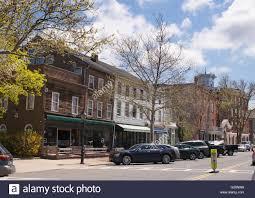 Long Island State Flag Main Street Sag Harbor Long Island New York Stock Photo