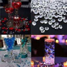 Diamond Vase Fillers 3000 Clear Raindrops Diamond Table Decor Vase Filler Ebay