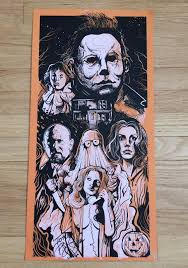 1980 halloween john carpenter screen print slasher movie poster