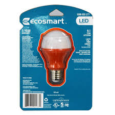 ecosmart light bulbs warranty ecosmart orange led a19 light bulb 25w equivalent amazon com