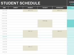 student schedule office templates