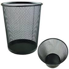 circular mesh bin waste paper basket black amazon co uk