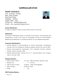 Resume Sample Nigeria by New Cv Rohit