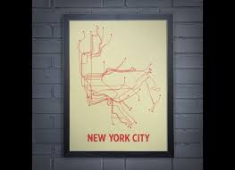 New York Submay Map by Lineposters Subway Maps Of Cities Around The World Photos