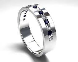 Diamond Sapphire Wedding Ring by Blue Sapphire Ring 950 Platinum Men U0027s Wedding Band