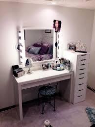 bedroom makeup vanity with lights lightandwiregallery com