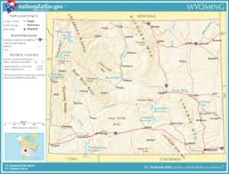 map of wyoming wyoming