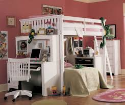 bunk beds with desks for girls full size bunk bed with desk dhp abode silver full size loft bed