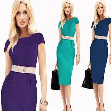 online cheap fashion women working dress elegant pencil bodycon