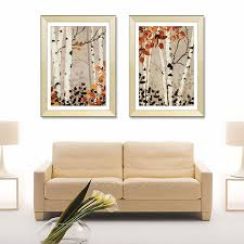 Diy Crafts Room Decor - aliexpress com buy classic white poplar forest canvas oil
