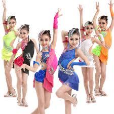 kids samba aliexpress buy girl kids tassel fringe dress