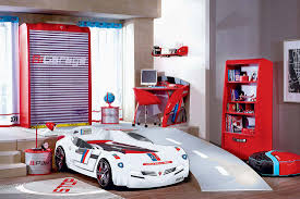bedroom small boys room design with luxury red race car bed feat