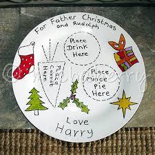 santa and rudolph plates plates
