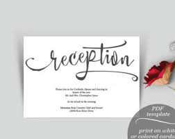 Wedding Reception Card Reception Card Etsy