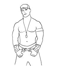john cena coloring sketch free download http colorasketch com
