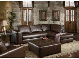 Rustic Chaise Lounge Living Room Traditional Living Room Design With Dark Brown Leather