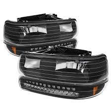 2001 chevy silverado fog lights spyder auto hd jh csil99 led set bk 2001 chevy silverado black
