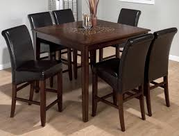 jofran baroque brown contemporary counter height square table with