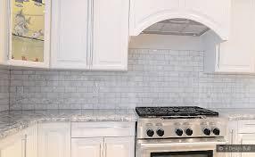 white tile kitchen backsplash white marble white cabinet white carrara marble subway