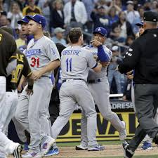 dodgers padres benches clear after dave roberts andy green