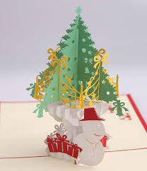 kirigami papercraft 3d pop up cards christmas cards 3d christmas