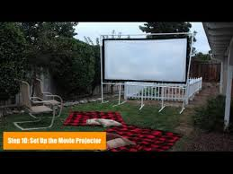 Backyard Projector How To Make A Backyard Movie Screen Youtube