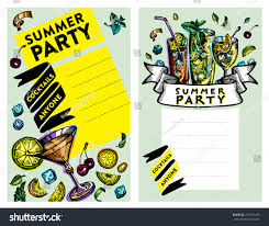 set cocktail party invitation cards vector stock vector 273181475
