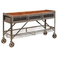 Mango Wood Console Table Mango Wood And Pewter Console Table Gallery Furniture Of Central