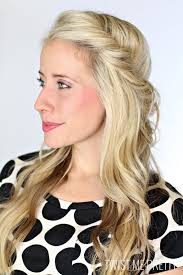 polka dot hair easy half up half hairstyles to rock for any occasion more