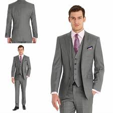 mens light gray 3 piece suit 2017 sale notch lapel men suit light gray costume made terno