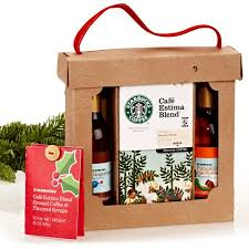 coffee gift sets starbucks pumpkin pie spice and gingerbread flavored syrups