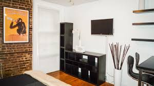 west village studio w exposed brick furnished nyc apartments