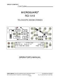 manitowoc 999 operators manual rci 510 crane machine equipment