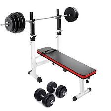 Weight Bench With Barbell Set Weight Bench Set With Weights Weight Bench With Weights Set Bar