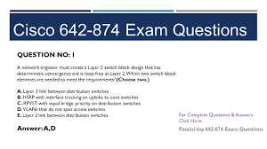 certification exam questions designing cisco network service