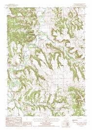 Wyoming Road Map Devils Tower Topographic Map Wy Usgs Topo Quad 44104e6